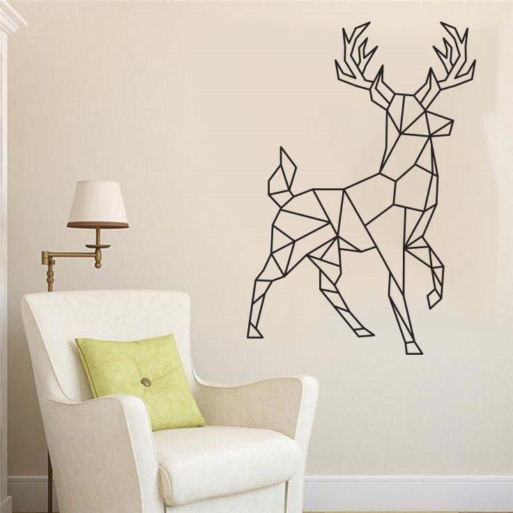 vinil para decorar paredes venado figura geometrica On figuras para decorar paredes