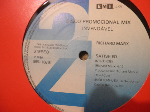 vinil richard marx right here waiting - satisfied single