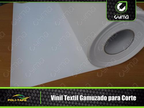 vinil textil blanco gamuzado politape de corte x metro