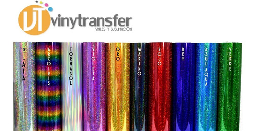 vinil textil holografico x mt