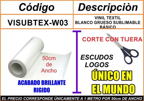 vinil textil imprimible xsublimacion blanco,moritzu