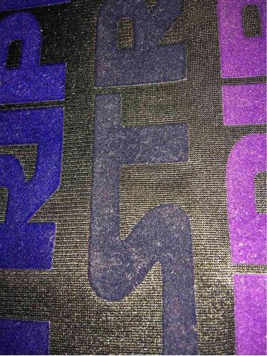 vinil textil siser   strip flock (gamuza) azul oscuro y rey