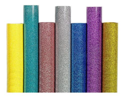 vinil textil térmico siser glitter 12  pulgadas metro lineal