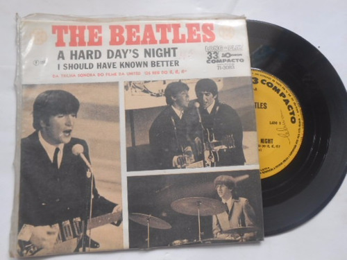 vinil the beatles a hard days night compacto 7  nacional