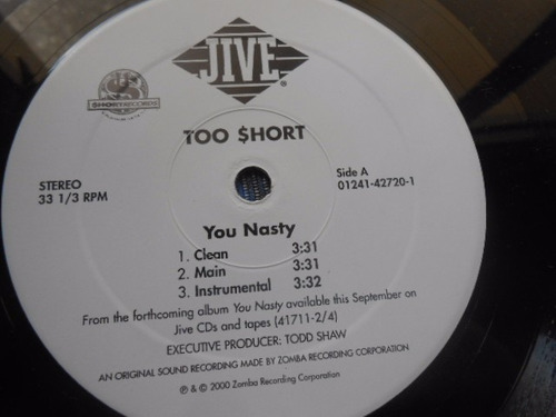 vinil too short you nasty she know 12' single