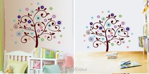 vinilio adhesivo decorativo arbol colorido - jm8186