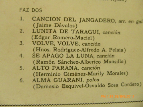 vinilio lp de ramona galarza alma guarani (u35