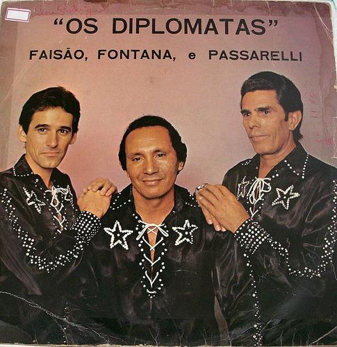 vinil/lp - os diplomatas - faisão, fontana e passarelli 1985