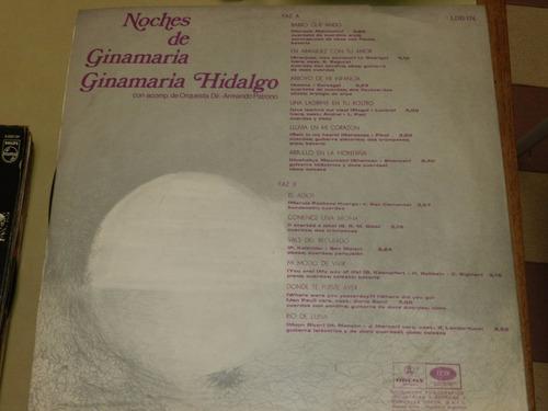 vinilo 0045 - noches de ginnamaria hidalgo
