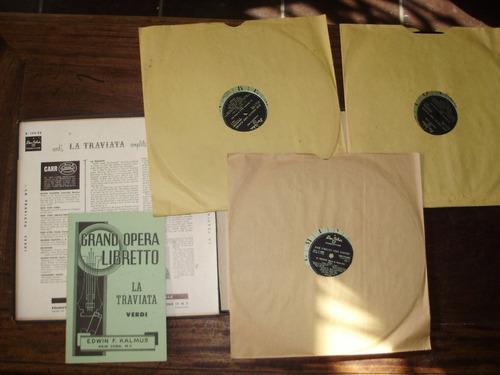 vinilo 12'' 3 lp verdi la traviata caja remington usa