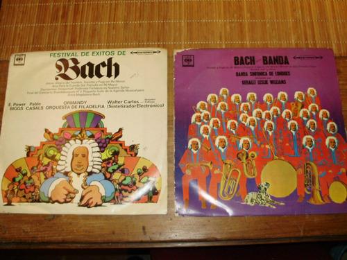 vinilo 12'' lote 2 lp j. s. bach cbs sondor uruguay 1972
