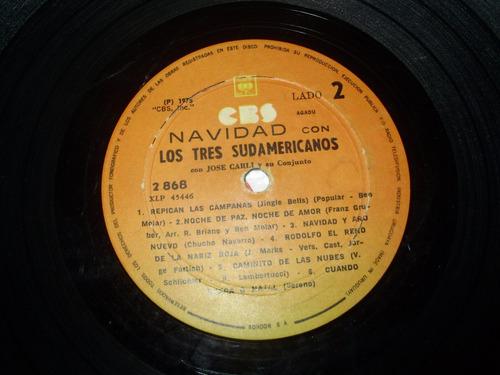 vinilo 12'' navidad con los tres sudamericanos cbs uru 1975