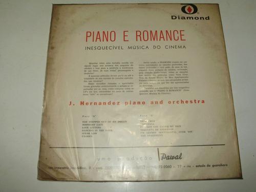 vinilo 12'' piano e romance j hernandez & orchestra diamond