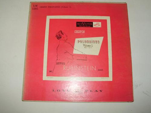 vinilo 12'' rubinstein polonaises 1 a 6 chopin rca usa 1951