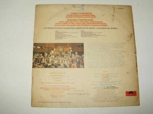 vinilo 12'' the music for unicef concert polydor uru 1979