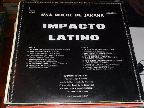 vinilo 1255 - impacto latino - una noche de jarana
