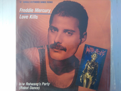 vinilo 12´´maxi freddie mercury love kills musikmercadolibre