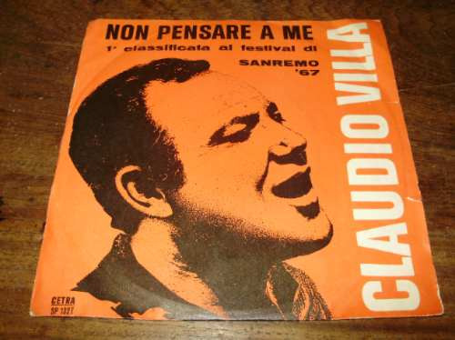 vinilo-7'' claudio villa non pensare a me cetra italia 1967