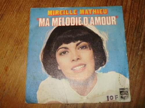 vinilo 7'' mireille mathieu ma melodie d'amour philips franc