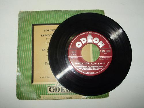 vinilo 7'' weber liszt direction lindenberg odeon fra 1955