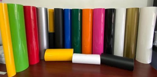 vinilo adhesivo de corte glossy 120 grs.  0.61x1 mt.