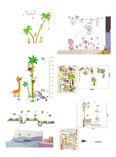 vinilo adhesivo, decorativo infantil,pared,vidrio,madera