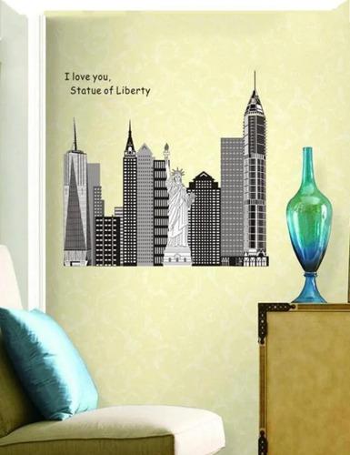 vinilo adhesivo decorativo motivo ciudades,para pared,vidrio