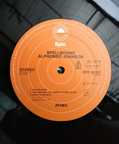 vinilo alphonso johnson - spellbound