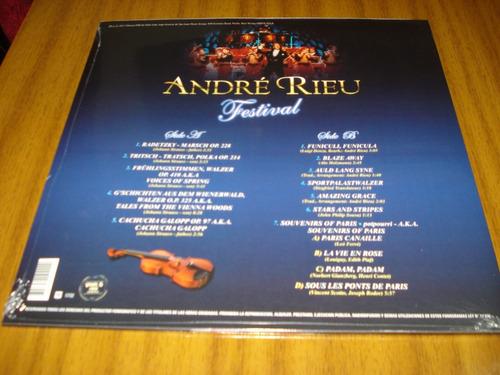vinilo andre rieu / festival ( nuevo y sellado) 180 gramos