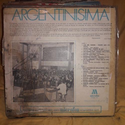 vinilo argentinisima altamirano jovita diaz santa cruz luque