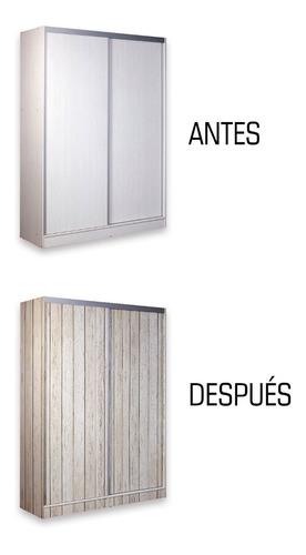 vinilo autoadhesivo - colección muebles placard alacenas