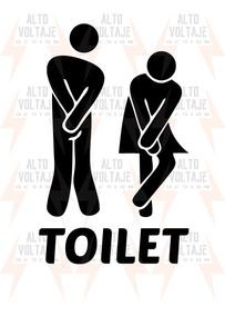 53eac4d33fe4 Vinilo Baño Hombre Mujer Toilet Calco Deco Puerta Pared