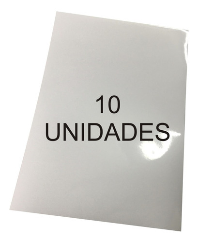 vinilo blanco sublimable autoadhesivo a4 pack x10 unidades