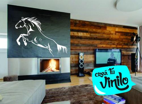 vinilo caballo galopa; decoración pared, interiores mural l