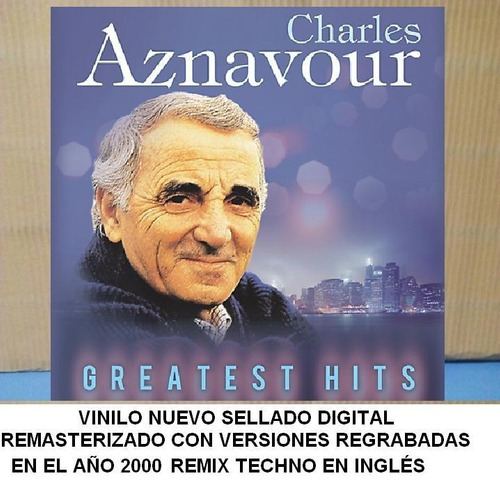 vinilo charles aznavour greatest hits en ingles nuevos remix