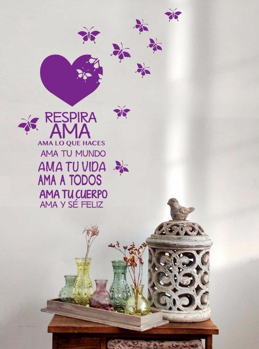 Vinilo Corazon Mariposas Frases De Amor