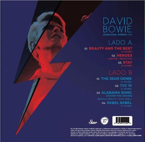 vinilo david bowie live musikladen bremen 1978 lp