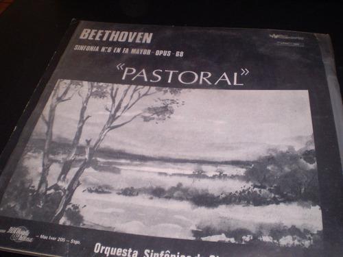vinilo de beethoven  --pastoral  sinfonia n°6 en fa may(792)