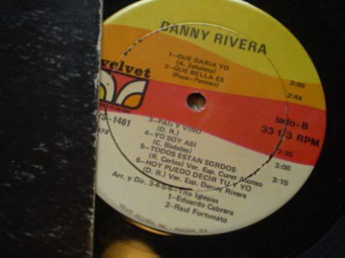 vinilo de  danny rivera (u84
