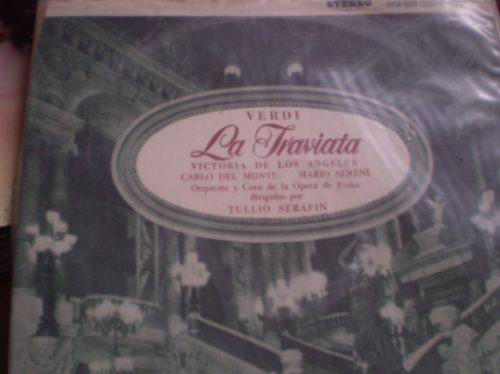vinilo de la traviata  3 lp  clasico (u699