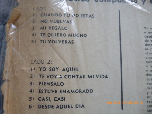 vinilo de manuel alejandro y su orquesta (lp1129