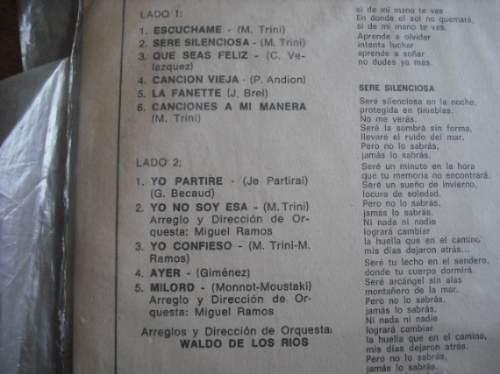 vinilo de mari trini  --   escuchame (1267