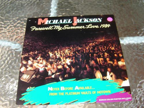vinilo de michael jackson  farewell my summer love 1984