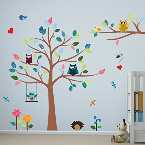 Vinilo de pared para ni os con b hos y arboles timber for Stickers pared ninos