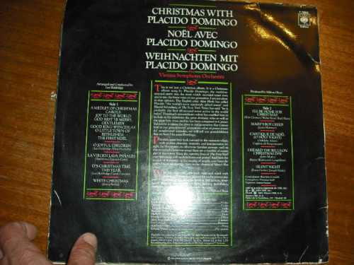 vinilo de placido domingo  christmas  (135)
