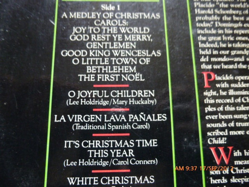 vinilo de placido domingo  christmas  (u125
