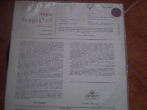 vinilo de rigoletto de verdi-piave (u709