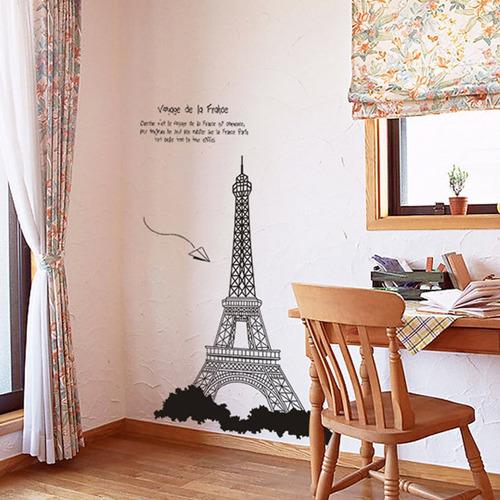 vinilo decoración torre eiffel paris amor ay726
