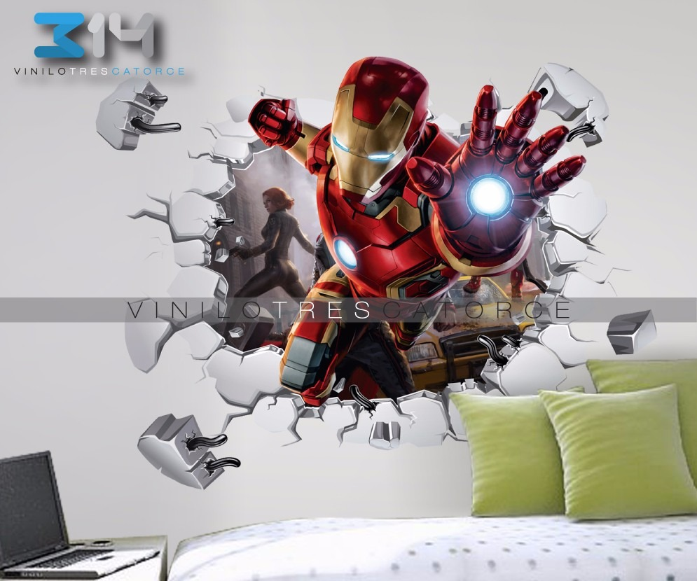 Vinilo decorativo 3d avengers i32 iron man sticker for Donde venden stickers para pared