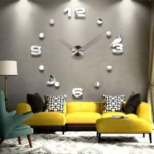 Vinilo decorativo 3d reloj para sala sobrepedido 1 en mercado libre - Relojes de pared modernos para salon ...